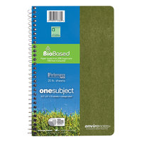 Roaring Spring 13360 Environotes Earthtones BioBased 9 1/2 inch x 6 inch 1 Subject Wirebound Notebook with Assorted Covers