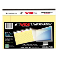 Roaring Spring 74601 8 inch x 6 inch College Ruled Canary 20# Landscape Writing Pad