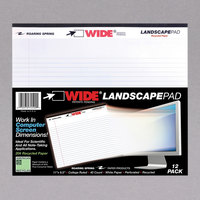 Roaring Spring 74500 11 inch x 9 1/2 inch College Ruled White 20# Landscape Writing Pad