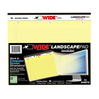 Roaring Spring 95511 11 inch x 9 1/2 inch College Ruled Yellow 20# Landscape Writing Pad