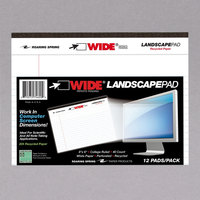 Roaring Spring 74600 8 inch x 6 inch College Ruled White 20# Landscape Writing Pad