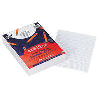 Pacon 2422 8 inch x 10 1/2 inch White Multi-Program 1/2 inch Rule 16# Handwriting Paper - 500/Pack