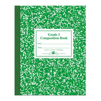 Roaring Spring 77920 7 3/4 inch x 9 3/4 inch Grade School Ruled 50 Sheet Composition Book with Green Cover