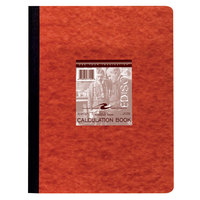 Roaring Spring 77155 11 3/4 inch x 9 1/8 inch Quadrille Ruled Lab Notebook with Red Pressboard Cover