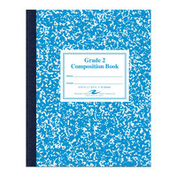 Roaring Spring 77921 7 3/4 inch x 9 3/4 inch Grade School Ruled 50 Sheet Composition Book with Blue Cover