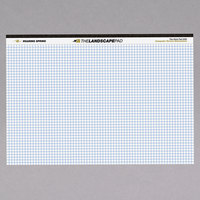 Roaring Spring 74505 11 inch x 9 1/2 inch Quadrille Ruled White Landscape Writing Pad
