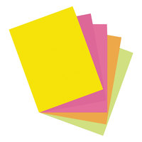 Pacon 101161 8 1/2 inch x 11 inch Array 65# Assorted Hyper Color Cardstock - 50 Sheets