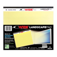 Roaring Spring 74501 11 inch x 9 1/2 inch College Ruled Canary 20# Landscape Writing Pad