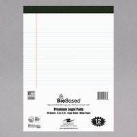 Roaring Spring 24326 USDA Certified Bio Preferred 11 3/4 inch x 8 1/2 inch White Micro-perforated Legal Pad   - 12/Pack