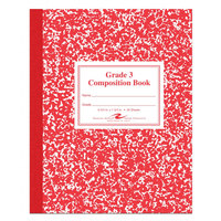 Roaring Spring 77922 7 3/4 inch x 9 3/4 inch Grade School Ruled 50 Sheet Composition Book with Red Cover