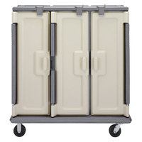 Cambro MDC1520T30191 Granite Gray 3 Compartment Meal Delivery Cart 30 Tray