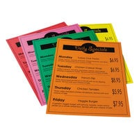 Pacon 101160 8 1/2 inch x 11 inch Array 65# Assorted Bright Color Cardstock - 50 Sheets
