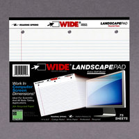 Roaring Spring 95510 11 inch x 9 1/2 inch College Ruled White 20# Landscape Writing Pad