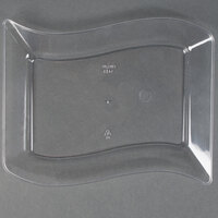 Fineline Wavetrends 1405-CL 5 1/2 inch x 7 1/2 inch Clear Plastic Dessert Plate - 10 / Pack