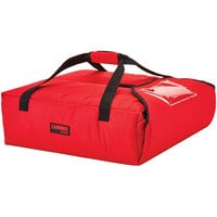 Cambro GBPP212521 Customizable Insulated Red Premium Pizza Delivery GoBag™ - Holds up to (2) 12 inch Pizza Boxes