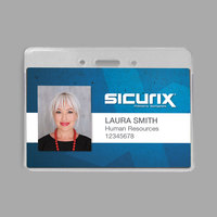 BaumGartens 47810 Sicurix 4 inch x 3 inch Clear Horizontal Proximity Badge Holder   - 50/Pack
