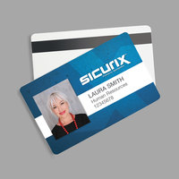 BaumGartens 80340 SICURIX Blank ID Card with HiCo Magnetic Strip   - 100/Pack