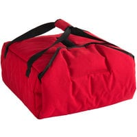 Cambro GBPP216521 Insulated Red Premium Pizza Delivery GoBag™ - Holds up to (2) 16 inch or (3) 14 inch Pizza Boxes