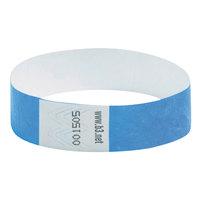 BaumGartens 85030 Sicurix Wristpass 3/4 inch x 10 inch Disposable Blue Tyvek® Security Wristband   - 100/Pack