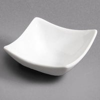 CAC SHA-Q4 Sushia 1.5 oz. Super White Square Porcelain Dish - 48/Case
