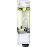 Cal-Mil 1112-3A 3 Gallon Square Acrylic Beverage Dispenser with Ice Chamber