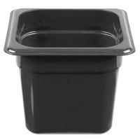 Cambro 66HP110 H-Pan 1/6 Size Black High Heat Food Pan - 6 inch Deep