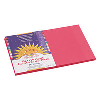 Pacon 6007 SunWorks 12 inch x 18 inch Scarlet Smooth Finish 58# Construction Paper   - 50/Pack