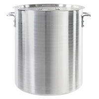 Choice 60 Qt. Standard Weight Aluminum Stock Pot with Cover