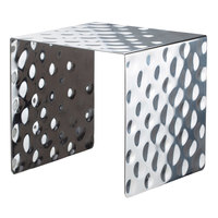 Bon Chef 2914 9 5/8 inch Hammered Stainless Steel Square Showcase Stand