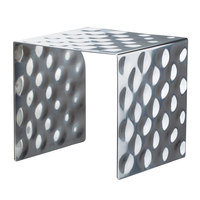 Bon Chef 2912 7 1/2 inch Hammered Stainless Steel Square Showcase Stand