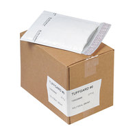 Jiffy 37712 10 inch x 6 inch TuffGard #0 Self Seal Cushioned White Mailer - 25/Case