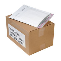 Jiffy 49674 7 1/4 inch x 12 inch TuffGard #1 Self Seal Cushioned White Mailer - 25/Case