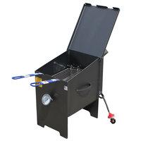 R & V Works FF2S 6 Gallon Liquid Propane Outdoor Cajun Deep Fryer - 90,000 BTU