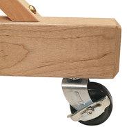 Quartet 9500 2 inch Black Easel Caster for Reversible Easel - 4/Set