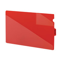 Smead 61970 10 1/8 inch x 16 1/8 inch Red Poly Legal Out Guide with Diagonal-Cut Pocket   - 50/Box