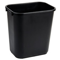 Continental 2818BK 28 Qt. / 7 Gallon Black Rectangular Wastebasket / Trash Can