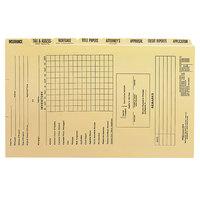 Smead 78278 Legal Size Pressboard Mortgage File Folder with Dividers / Metal Tab - 8/Set
