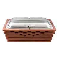 Bon Chef 20321 Sequoia 9.5 Qt. Rectangular Chafer with Glass Cover-120V