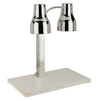 Bon Chef 2951 Dual Technology Carving Station with Double Heat Lamp and Marble Base - 500W