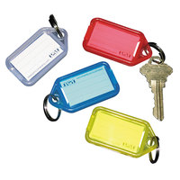 SecurIT 04993 2 1/4 inch x 1 1/8 inch Assorted Color Extra Key Tag