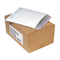 Jiffy 49675 9 1/2 inch x 14 1/2 inch TuffGard #4 Self Seal Cushioned White Mailer - 25/Case
