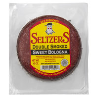 Seltzer's Lebanon Bologna 12 oz. Pack Double Smoked Sliced Sweet Bologna
