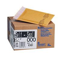Jiffylite 10181 8 inch x 4 inch Self Seal #000 Kraft Mailer - 25/Case