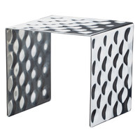 Bon Chef 2911 6 1/8 inch Hammered Stainless Steel Square Showcase Stand