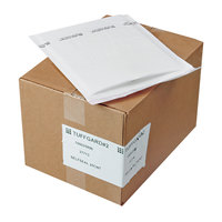 Jiffy 37713 12 inch x 8 1/2 inch TuffGard #2 Self Seal Cushioned White Mailer - 25/Case
