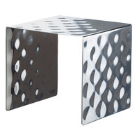 Bon Chef 2913 8 9/16 inch Hammered Stainless Steel Square Showcase Stand