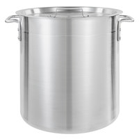 Choice 24 Qt. Standard Weight Aluminum Stock Pot with Cover