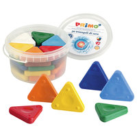 Stride 0771TR Primo 30 Pack Assorted Color Triangle Crayons