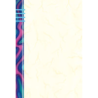 8 1/2 inch x 14 inch Menu Paper - Wave Border Left Insert - 100/Pack