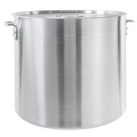 Choice 100 Qt. Standard Weight Aluminum Stock Pot with Cover